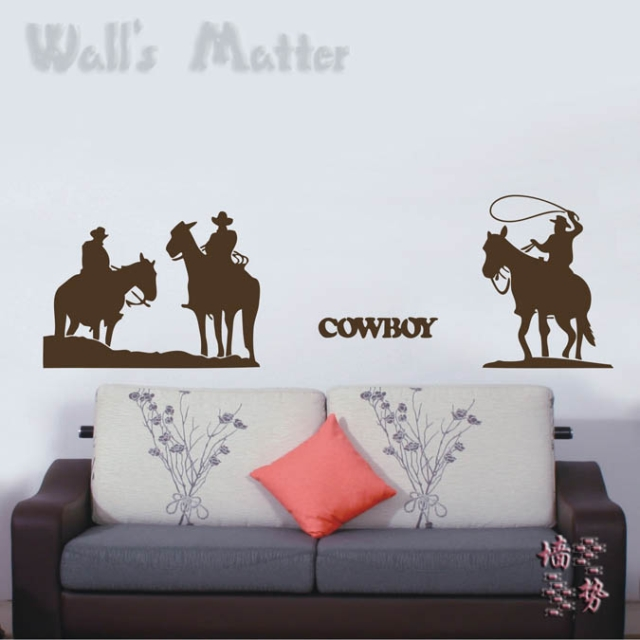 The classic dallas cowboy Knight vinyl  retro style wall stickers for tv sofa background decoration large size free shipping
