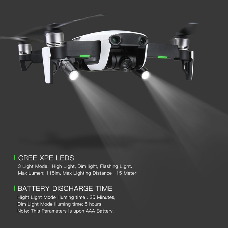 2pcs Drone Night Flight LED Light photography Fill light Flashlight Spare parts For DJI mavic air Drone Accessories 1 (13)
