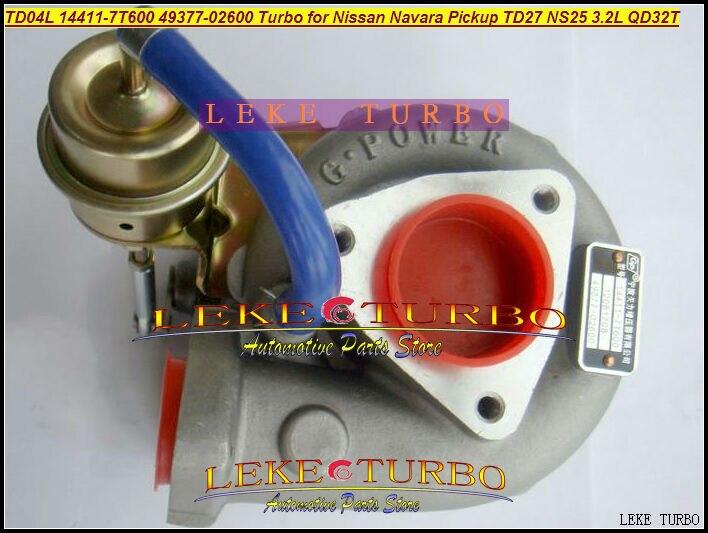 Free Ship TD04L 14411-7T600 49377-02600 49377 02600 144117T600 Turbo For Nissan Navara Pickup D22 TD27 NS25 QD32 QD32T 3.2L цены онлайн