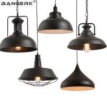 Americano Vintage Industrial LED colgante de luz estilo Loft olla de hierro lámpara colgante iluminación Home Decor de lámparas colgantes
