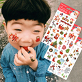 3pcs Christmas Snow Tattoo Kids Temporary Tattoo Christmas Tree Bear Designs Tattoo Sticker