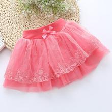 2017 Korean version of children's clothing lace beauty children tutu skirt bow cake skirt girl
