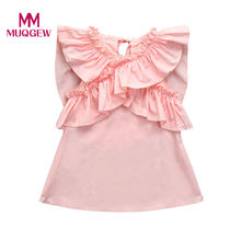MUQGEW Newborn Infant Baby Girls Butterfly Wings Ruffles Dress Outfits Clothes Dress baby girl clothes winter 2019#YY