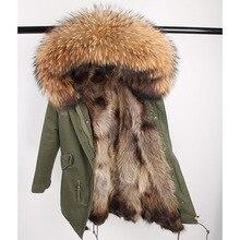 Пальто с натуральным мехом, длинная парка, верхняя одежда, новая мода, натуральный мех енота, воротник из лисьего меха, зимняя куртка, женская верхняя одежда, новинка
