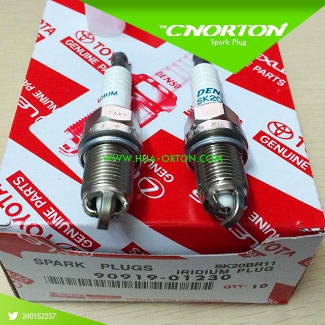 Set(4) Denso SK20BR11 Car Candle Japan Spark Plug 90919-01230 For Toyota Camry 9091901230