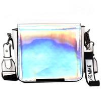 2018 New Female Luxury Handbags Women Hologram Laser Leather Small Handbag Casual Laser Holographic Shoulder Bag Bolsa Femininas
