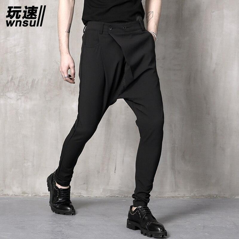 M-6XL!!! 2018 Big yards mens trouse summer pants harem pants male personality boot cut jeans mens clothing big long trousers