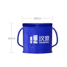 Portable Round Bucket Shrink 18cmx18cm Round Waterproof Fold Fishing Bucket Fishing accessories Fishing tools