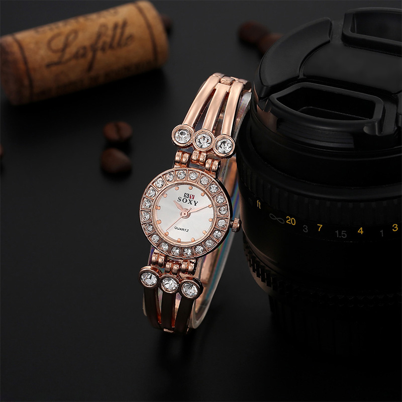 Hot Sale SOXY Brand Fashion Rose Gold Watch Women Luxury Rhinestone Bracelet Quartz Watch Women Dress Watches relogio feminino lvpai quartz watch women fashion rhinestone bracelet watches dress clock gold silver relogio feminino