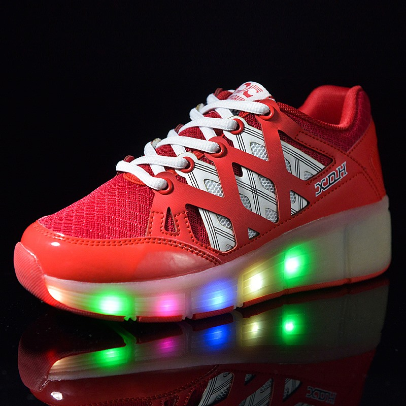Children Glowing Sneakers Kids Roller Skate Shoes Children Led Light up  Shoes Girls Boys Sneakers with Wheels tenis infantil 42c28dd937b8
