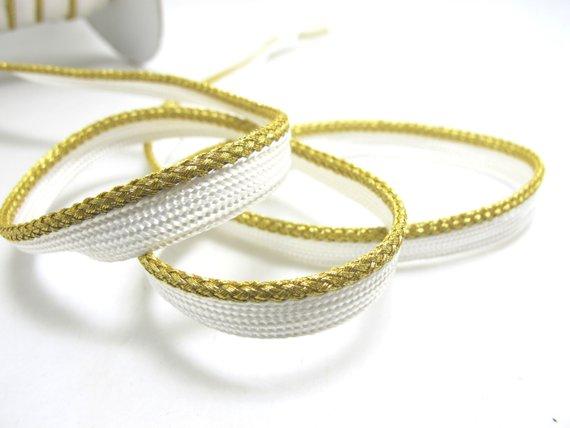 5 Yards 3 8 Inch Metallic Gold Braided Piping Lip Cord Trim Pillow