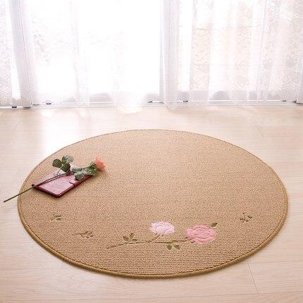 Tapis Rose tapis de sol chaise pivotante coussin ordinateur chaise maison porche porte tapis chevet slip peut être lavé à la main