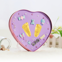 Baby Care Air Drying Soft Modeling Colored Clay Handprint Footprint Imprint Kit Casting Parent child Hand Inkpad Fingerprint