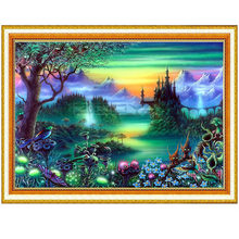 Diamond Embroidery DIY Diamond Painting Landscape Forest Mountain Diamond Painting Cross Stitch Rhinestone Mosaic XU(China)