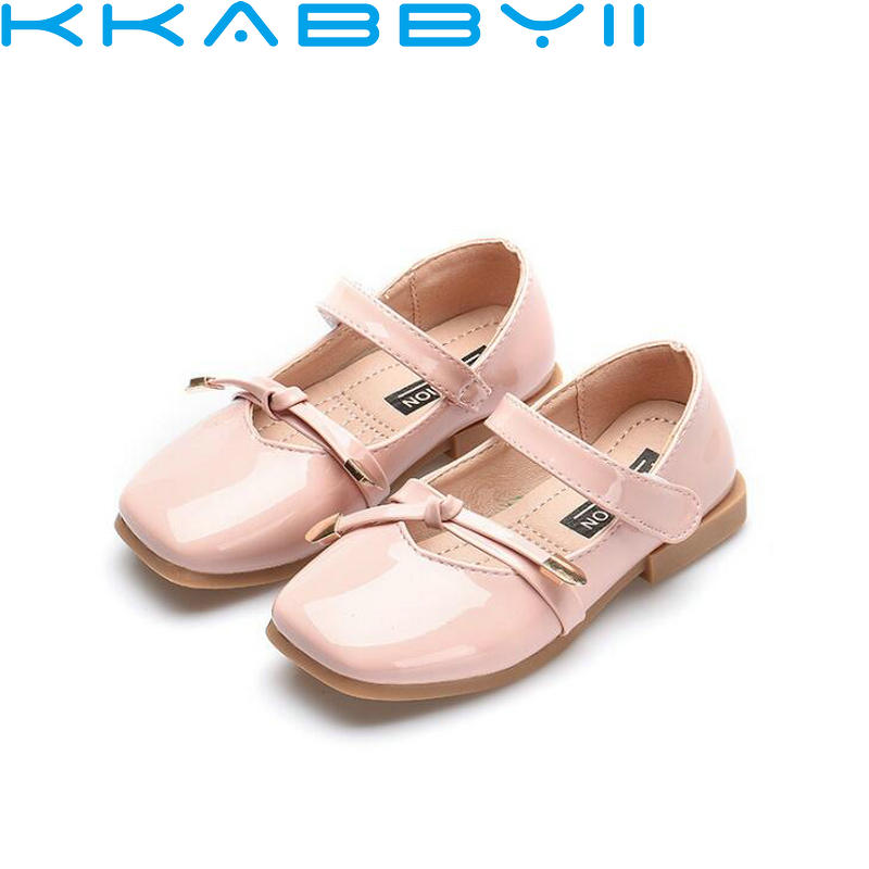 New Baby Girls Shoes For Children Shoe Princess Bow-knot Leather For Party Wedding Kids Moccasins Summer Footwear Sneakers