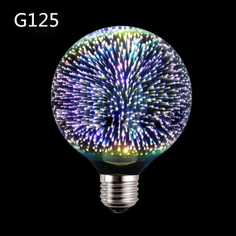 Led Lumière Ampoule 3D Décoration Feux D'artifice Ampoule E27 Vacances Lumières A60 ST64 G95 G80 G125 Nouveauté De Noël Bar Lampe Lamparas Bombill