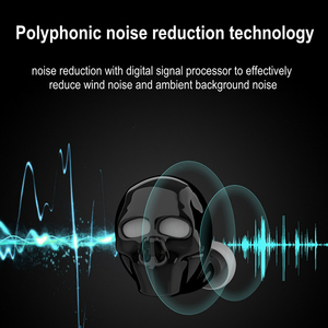 Image 3 - 2019 New Skull Bone Bluetooth Earphone with Microphone Noise Cancelling Hi Fi Handsfree Bass Stereo Mini Micro Earbud Earpiece
