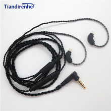 DIY 0.75mm 2 Pin Cable for TF10 TF15 5pro SF3 Earphone Oxygen-free Copper Replacement Headset Cords for Android IOS(China)