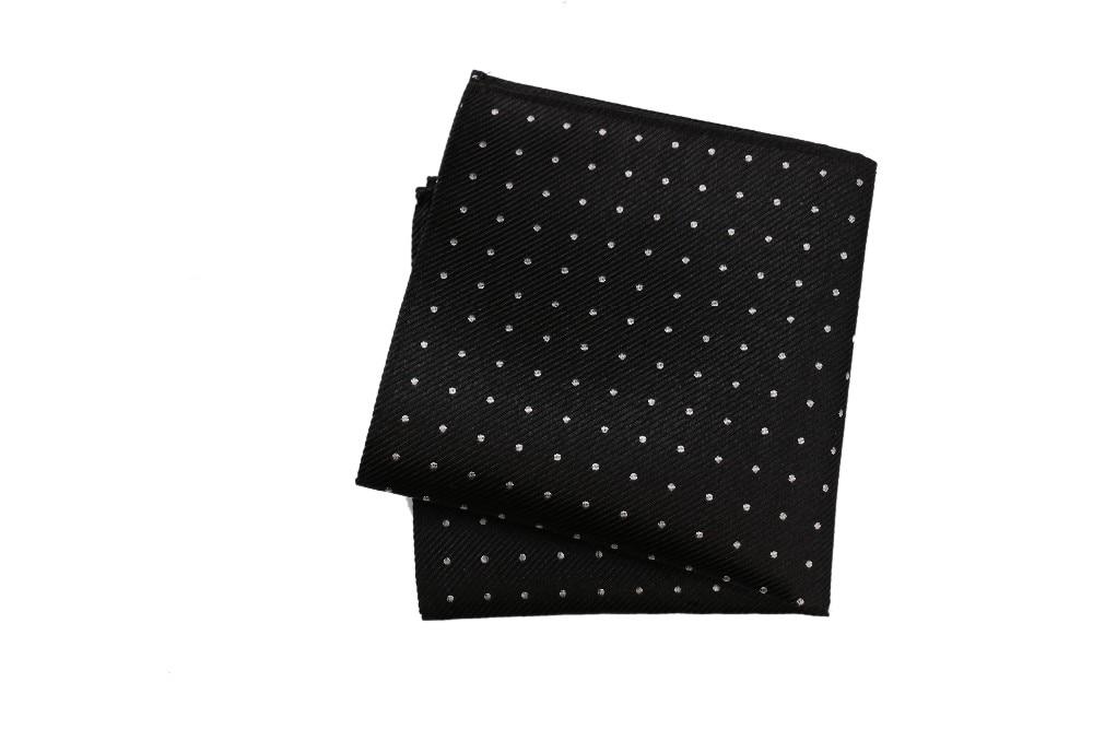 Polka Dot Burgundy Necktie Pocket Square Set