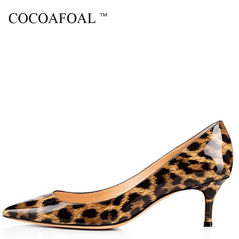 COCOAFOAL Woman Purple High Heels Shoes Big Size 43 44 45 Party Sexy Leopard Shoes Blue White Green Pink Wedding Bridal Shoes