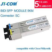 1 г 5 км SM SC разъем трансивер sfp-модуля Gigabit одиночный режим один волокно оптический Ethernet Совместимость с Cisco коммутатор 20