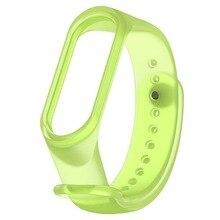 Mi Banda 3 Strap pulseira Pulseira de Silicone Transparente e xio Band3 Xiao mi mi mi mi banda Inteligente 3 Banda acessórios Correia de pulso