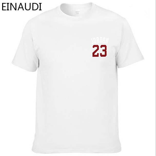 c0e6283fb1e placeholder EINAUDI Cotton Michael Jordan 23 Mens T Shirts Fashion 2018  Short Sleeve Couple T-shirts