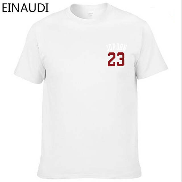 check out 18c15 82904 placeholder EINAUDI Cotton Michael Jordan 23 Mens T Shirts Fashion 2018  Short Sleeve Couple T-shirts