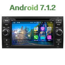 Android 7.1.2 2GB RAM 4G WIFI DAB+ Car DVD Multimedia Player Radio For Ford Transit Fiesta Galaxy Fusion C-MAX S-MAX Focus Kuga