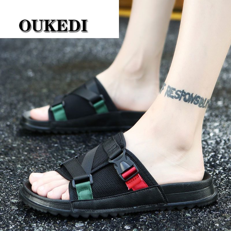 Fashion Sandals Men 2019 New Summer Top Quality Beach Shoes Male Causal Shoe Outdoor Flip Flops Man Slippers Large Size 38-46(China)