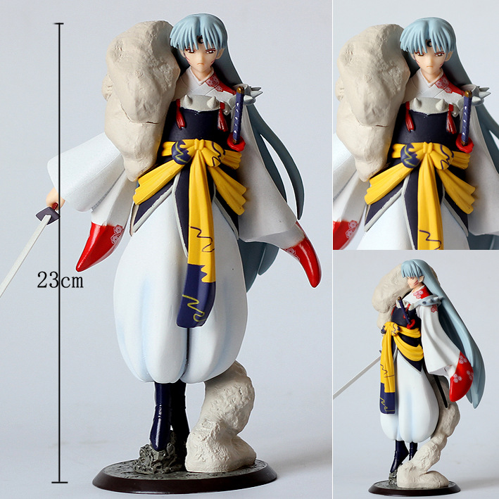 Huong Anime 23CM Inuyasha Sesshoumaru PVC Figure Collectible Model Toy Gift DollHuong Anime 23CM Inuyasha Sesshoumaru PVC Figure Collectible Model Toy Gift Doll