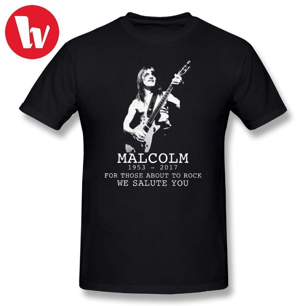 AC DC Men T Shirt ACDC Malcolm Young Australian Guitarist Short Sleeve Plus Size Casual Summer O Neck T Shirts Printed Tee Shirt
