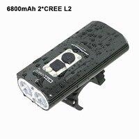 אופני מנורת 1800Lm אופניים אור LED 18650 USB 2x XM-L2 BicycleLight מול אורות מנורת פנסים סוללה מובנית