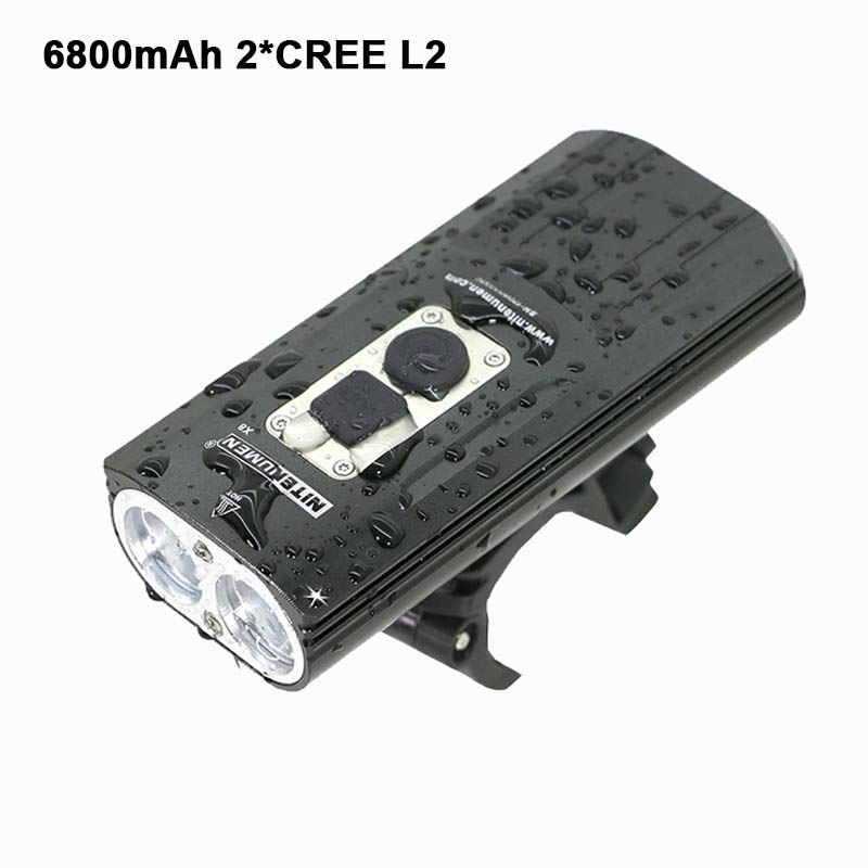 USB Bicycle light LED 18650 bike lamp 1800Lm 2x XM-L2 lights Front BicycleLight flashlights Lamp Built-in Battery cree xm l t6 bicycle light 6000lumens bike light 7modes torch zoomable led flashlight 18650 battery charger bicycle clip