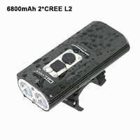 USB vélo lumière LED 18650 vélo lampe 1800Lm 2x XM-L2 lumières avant vélo feux de poche lampe batterie intégrée