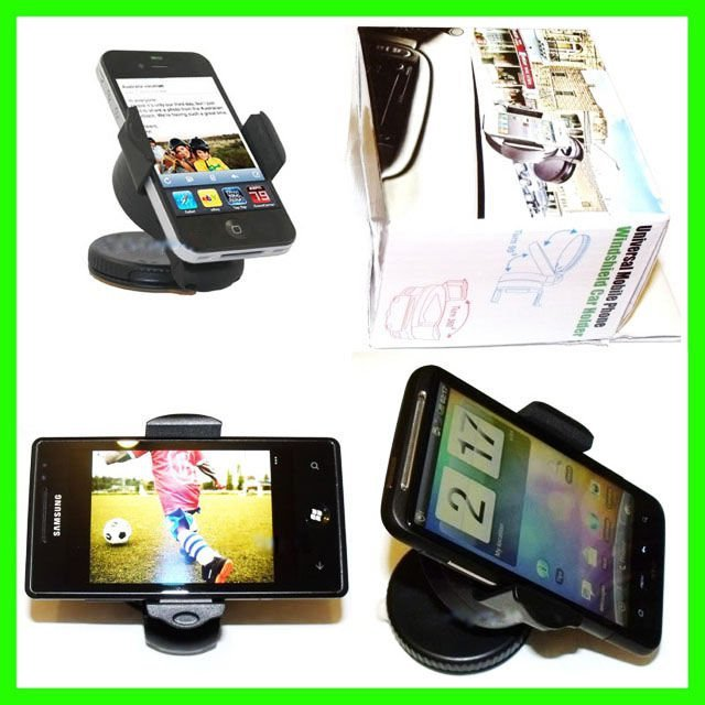 Free shipping  Universal mobile phone windshield mini car holder,Car kit mount holder transformable from 5.5cm to 8cm