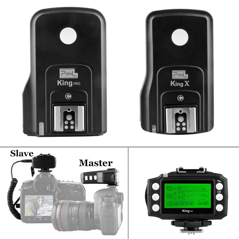 INSESI Pixel King Pro 2.4G E-TTL HSS 1/8000s Wireless Flash Trigger Kit Transmitter Transceiver For Canon 7D 550D 300D 100D DSLR yn e3 rt ttl radio trigger speedlite transmitter as st e3 rt for canon 600ex rt new arrival
