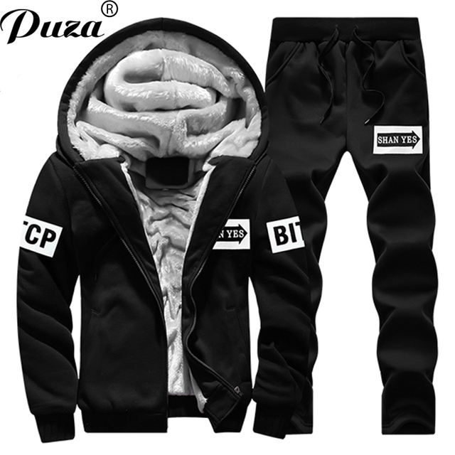 Brand Men S New 2 Piece Sportswear 2018 Best Selling Winter Warm
