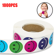 500 Labels per roll cute round smiley face stickers for seal labels Adhesive tags scrapboking children birthday party decoration