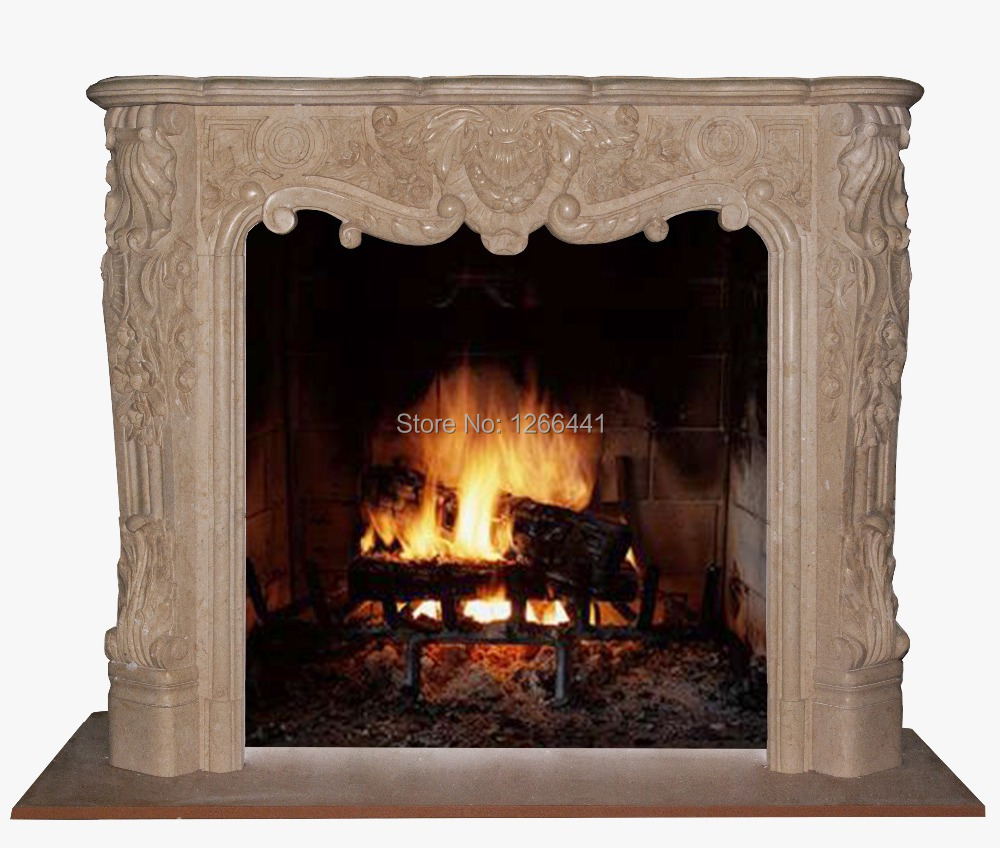 Online get cheap stone fireplace surround for Cheap wooden fireplace surrounds