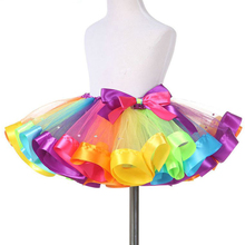 Fluffy Chiffon Baby Tutu Skirts Girls Princess Dance Party Short  Rainbow Skirts CD001