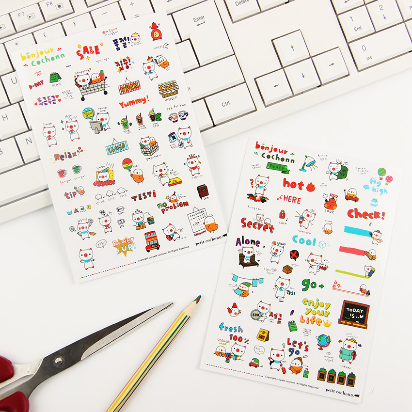 6 sheet A happy childhood Scrapbooking stationery diary Planner calendar sticker