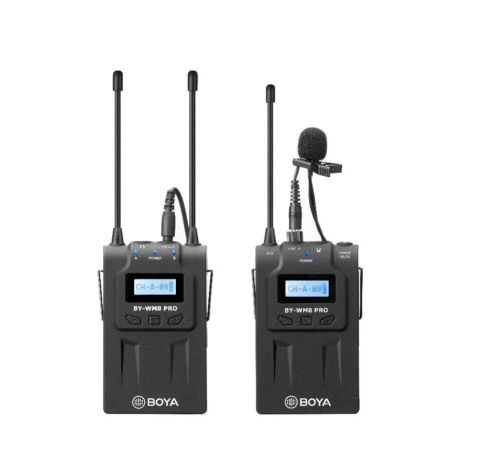 BOYA BY-WM8 Pro-K1 UHF double canal Lavalier système de Microphone sans fil avec écran LCD pour Canon Nikon DSLR caméra caméscope