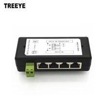 4 порта PoE инжектор 4CH PoE адаптер питания ethernet блок питания Pin 4,5(+)/7,8(-) Входной DC12V-DC48V для ip-камеры