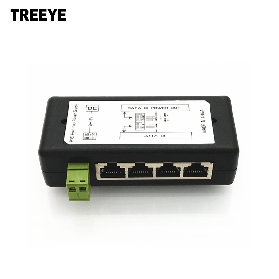 4 Port Poe Injector Poe Power Adapter Ethernet Power