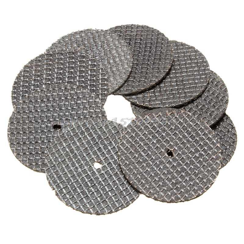 25 adet 32mm reçine kesme disk diskleri seti seti + 1 Mandrel Dremel döner aracı için J26 19 Dropship