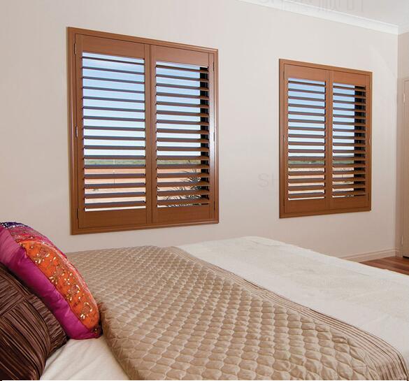 Haus & Garten Schrling Weiß Shutter Fenster Holz Jalousien Auf Windows Jalousien Wasserdichte Hohe Qualität Kundengebundene Größe