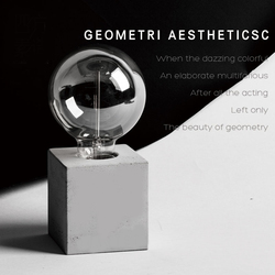 Настольная лампа цементная силиконовая форма мебель настольная лампа бетонная форма квадратная цилиндрическая полигонная дизайнерская ф...