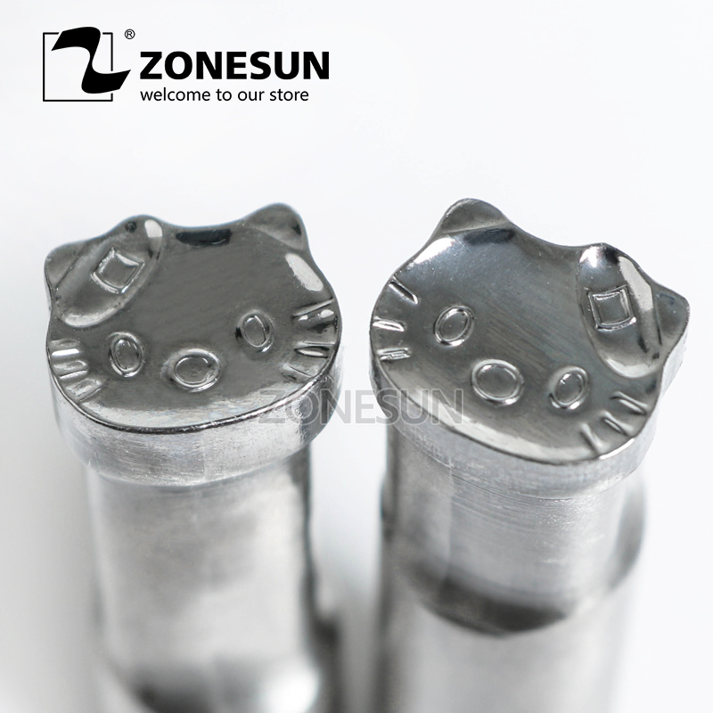 ZONESUN Cat shape Tablet Press 3D Punch Mold Candy Milk Punching Die Custom Logo For punch die TDP 5 Machine Free Shipping free shipping punching press mold 30mm free length green die moulds spring 10pcs lot