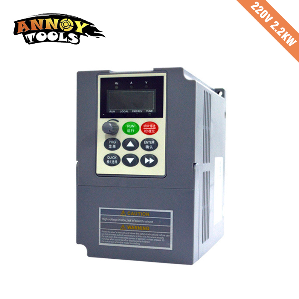1.5KW 2.2KW 220V Single Phase Input Frequency Inverter 9.6A, 220v 3 Phase Output Mini Frequency Drive Converter V8 Series